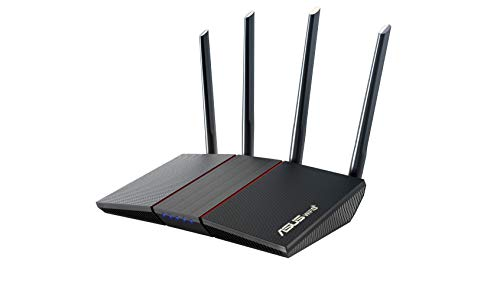 ASUS AX1800 WiFi 6 Router (RT-AX55) - Dual Band Gigabit Wireless Router, Speed & Value, Gaming & Streaming, AiMesh Compatible, Included Lifetime Internet Security, Parental Control, MU-MIMO, OFDMA