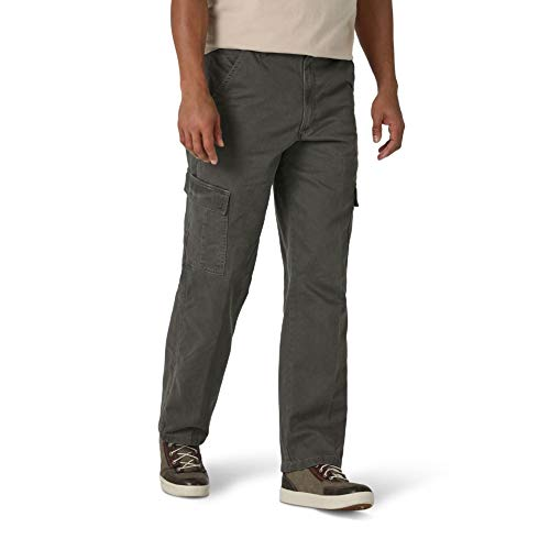 Wrangler Authentics Men's Classic Twill Relaxed Fit Cargo Pant, Olive Drab, 35W x 32L