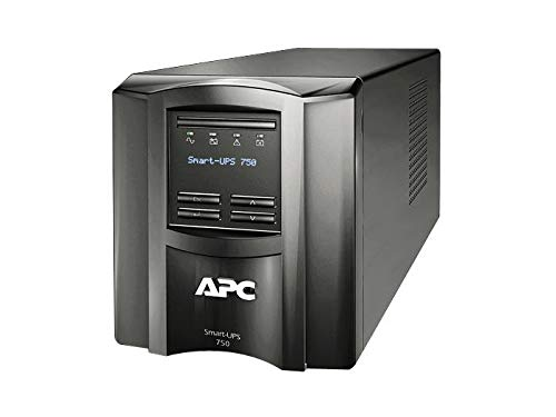 APC Smart-UPS 750VA UPS Battery Backup with Pure Sine Wave Output (SMT750) (Not sold in Vermont)