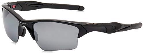 Oakley Men's OO9154 Half Jacket 2.0 XL Rectangular Sunglasses, Polished Black/Black Iridium Polarized, 62 mm