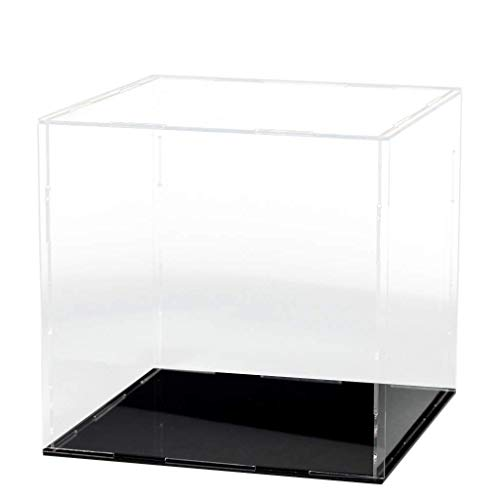 LANSCOERY Clear Acrylic Display Case Assemble Countertop Box Cube Organizer Stand Dustproof Protection Showcase for Action Figures Toys Collectibles (12x12x12 inch; 30x30x30cm)