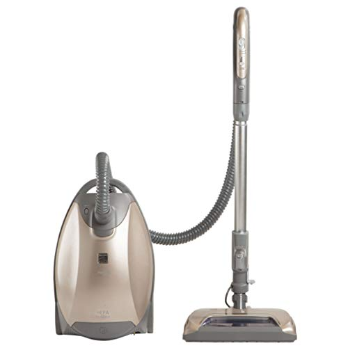 Kenmore Elite 81714 Pet Friendly Ultra Plush Lightweight Bagged Canister Vacuum with Pet PowerMate, HEPA, Extended Telescoping Wand, Retractable Cord, and 3 Cleaning Tools-Champagne