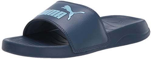 PUMA Unisex Popcat Slide Sandal, Dark Denim-Gulf Stream, 5 M US Big Kid