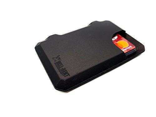 3.0 ALUMINUM RFID PROTECTED WALLET BLACK MEDIUM