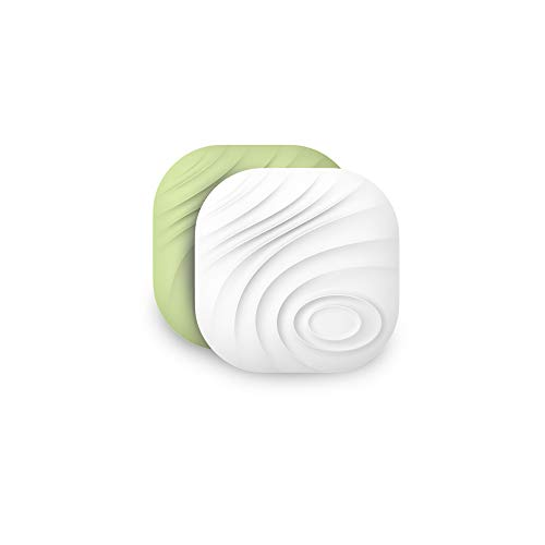 Nutale Nut3 Key Finder Bluetooth Locator Smart Tracker Anti-Lost Bidirectional Alarm Reminder with App for Android/iOS Phone for Phone Dogs Kids Luggage Wallet - Replaceable Battery - White and Green
