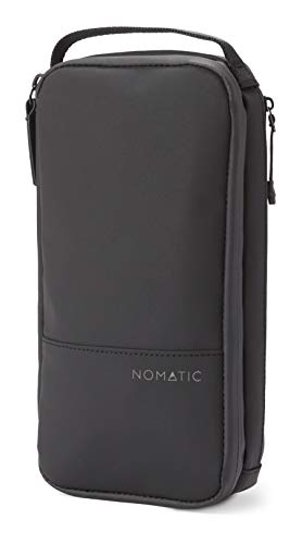 NOMATIC- Toiletry Wash Bag for Travel, Waterproof Storage Case for Shaving Kit, Makeup, Toiletries (Black), Small V2