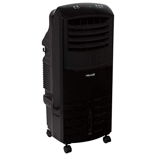 NewAir, AF-1000B, Portable Indoor Tower Fan with Evaporative Air Cooler and Humidifier, 300 Square Foot Effective Range, Black