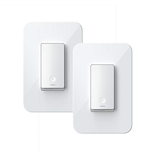 Wemo WLS0403-BDL Wi-Fi Light Switch 3-Way 2-Pack Bundle - Control Lighting from Anywhere, Easy In-Wall Installation, Compatible with Alexa, Google Assistant and Apple HomeKit
