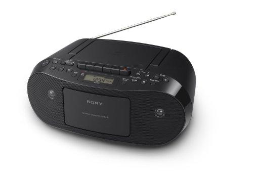 Sony CFDS50 Portable CD, Cassette & AM/FM Radio Boombox-(Renewed)