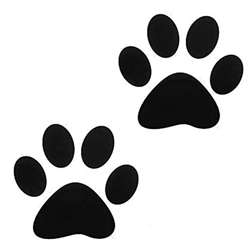 Curated Nirvana 24 Large Dog Paw Prints Decal Stickers for Floors and Walls | Easily Re-Position and Reuse, Easy to Remove, 8.5 Tall x 7.25 Wide