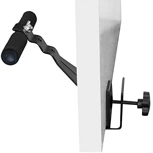 VOMSASN Doorway Sit Up Bar Assistant Device, Adjustable Reinforced Steel with Padded Ankle Bar Ab Exercise Equipment for Home Work Travel Fits Any Door