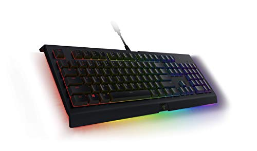 Razer Cynosa Chroma Pro Gaming Keyboard: Customizable Chroma RGB Lighting w/ Underglow - Individually Backlit Keys - Spill-Resistant Design - Programmable Macro Functionality