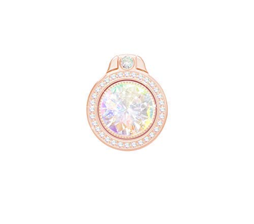 lenoup Glitter Bling Bling Phone Ring Holder,Sparkle Phone Ring Artificial Diamond Stand,Rhinestone Cell Phone Finger Ring for Phones,Pad(Rose Gold)