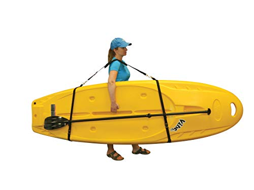 Pelican Boats - Universal SUP & Kayak Comfortable Carrying Shoulder Strap – PS1295-1 - Universal Adjustable Sling with Built-in Paddle Loop