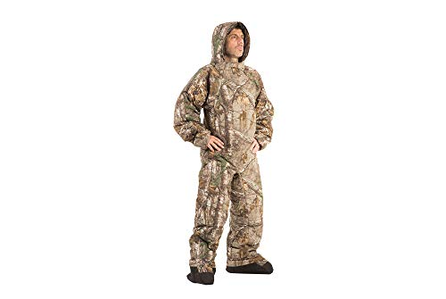 Selk'bag Pursuit The Wearable Bag I Outdoor and Indoor Sleeping Bag for Camping, Hunting, Fishing Lounging I Realtree Edge, Large