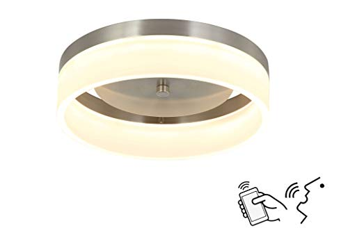 Smart Ceiling Light Fixture Work with Alexa and Google Assistant for Bedroom and Hallway, Dimmable and Color Temperature Changeable by App and Voice Commands ,12 Inch No Hub Required.