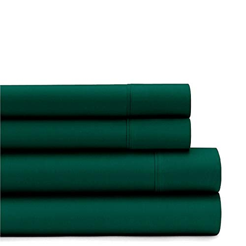 American Home Collection Deluxe 4 Piece Bed Sheet Sets of Brushed Microfiber Wrinkle Resistant Silky Soft Touch (Full, Forest Green)