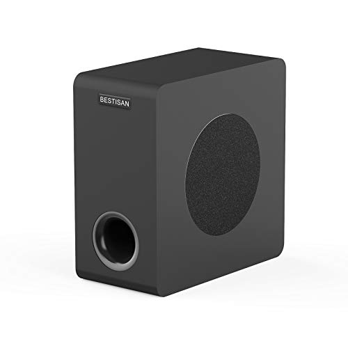 BESTISAN Powered Subwoofer, Bestisan 6.5'' Bluetooth Home Theater Subwoofer, Deep Bass Response in Compact Design, Easy Setup with Home Theater Systems, TV, Computer, Speakers, Optical/Bluetooth/RCA