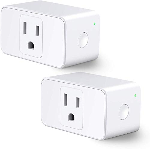 Refoss Mini WiFi Smart Plug Smart Outlet Work with Alexa and Google home, Voice Control, Remote Control, Timing Fuction, 16 Amp, No Hub Required, 2 Pack