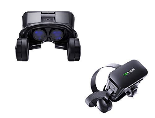 VR Glasses, Headsets, Virtual Reality 3D Play, Movie and Video Playback, Compatible with iPhone and Android Smartphones, Wear Comfortable and Soft to Wear,New HD Lens