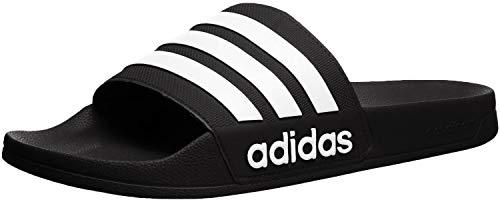 adidas Men's Adilette Shower Slide, Black/White/White, 11