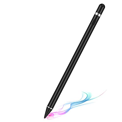 Rechargeable Active Stylus Pens for Touch Screens, Digital Stylish Pen Pencil Compatible with iPhone iPad (Black)