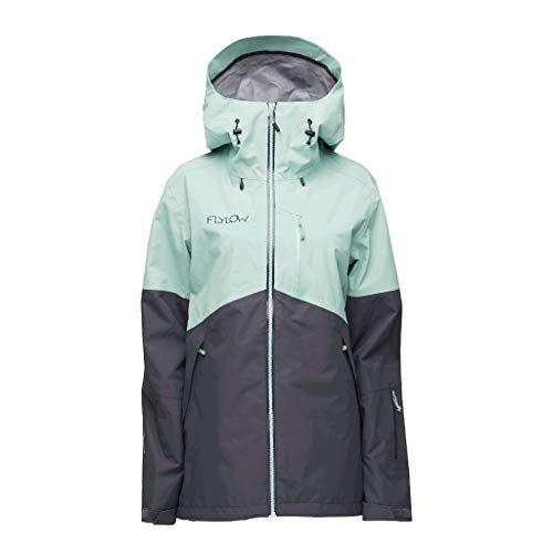 Flylow Women's Billie Jacket - 3 Layer Waterproof Skiing and Snowboarding Shell (Willow/Nightfall, M)