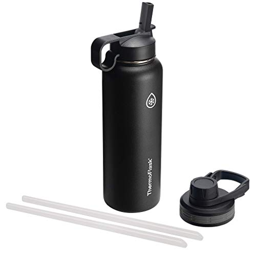 Thermoflask Double Stainless Steel Insulated Water Bottle, 40 oz, Black