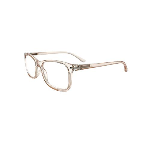 Readerest Blue Light Blocking Reading Glasses for Wide Faces, UV Protection, Anti-Reflective Lenses, Spring Hinges, Blush Babe (Peach, 1.75 Magnification)