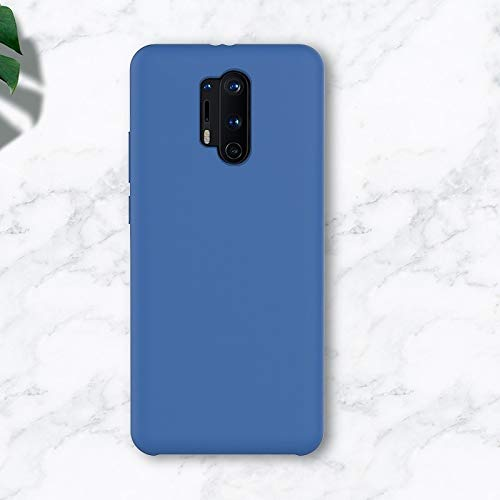 Wangl OnePlus Cases for OnePlus 8 Pro Liquid Silicone Coverage Mobile Phone Protective Case OnePlus Cases (Color : Denim Blue)