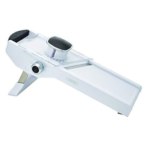 Farberware Pro Mandolin Slicer With Adjustable Table, 3-Piece, White
