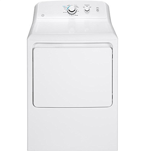GE GTX33GASKWW Aluminized Alloy Drum Gas Dryer, 6.2 Cu. Ft. Capacity, 3 Cycles, White,