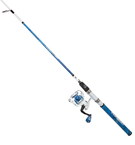 ProFISHiency 6FT 8IN Realtree Wave Spinning Rod and Reel Combo - IM7 Graphite Fishing Pole, Soft Padded Grips, 5.2.1. Gear Ratio Spinning Reel