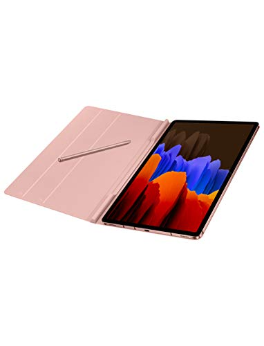 Samsung Electronics Galaxy Tab S7+ Book Cover (Mystic Bronze), Brown