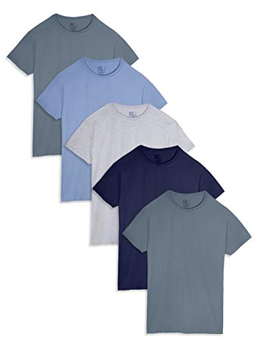 Fruit of the Loom Men's Crew Neck T-Shirt Multipack, Assorted (5 Pack), Medium