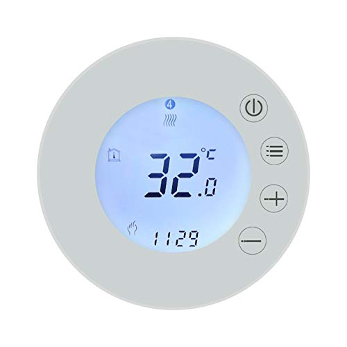 VISLONE Thermostat, Tuya WiFi LCD Display Intelligent Thermostat Programmable Temperature Controller APP Remote Control Compatible with Alexa Google Home Voice Control
