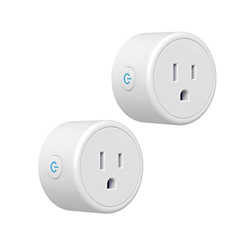 Smart Plug, CRESTIN Wi-Fi outlets Work with Alexa Google Assistant for Voice Command, Timer Function and no Hub Required, 2.4GHz WiFi(2pack)