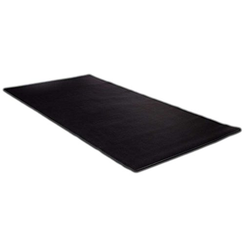 KAZAIRA Extended Gaming Mouse Pad (3XL) with Anti-Fray Stitched Edges - 48' x 24' - Black