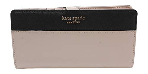 Kate Spade New York Wellesley Printed Stacy (Warm Beige/Black), Medium