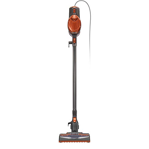 Shark Rocket Corded Bagless Stick Vacuum for Carpet and Hard Floor Cleaning with Swivel Steering (HV302), Gray/Orange