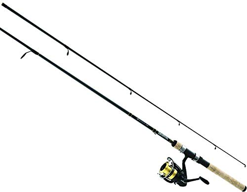 Daiwa DSK25-B/F662M D-Shock Freshwater Spinning Combo, 2500, 6'6' 2Piece Rod, 6-14 lb Line Rate, 1/4-3/4 oz Lure Rate