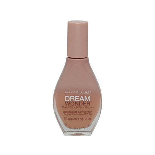 2 Pack- Maybelline Dream Wonder Fluid-Touch Foundation #50 Creamy Natural