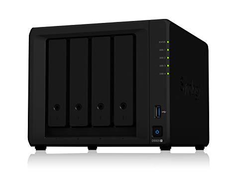 Synology 4 bay NAS DiskStation DS920+ (Diskless), 4-bay; 4GB DDR4