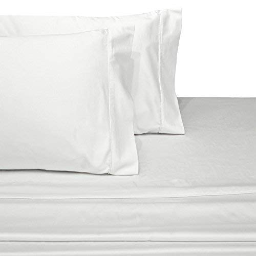 Wamsutta Xuvet 100% Egyptian Cotton Sheets, White Queen Sheets Set, 625 Thread Count Long Staple Cotton, Sateen Weave for Soft and Silky Feel, Fits Mattress Upto 18'' Deep Pocket