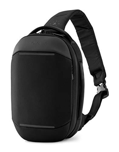 NOMATIC Navigator Premium Everyday Sling 6L (Black)   Crossbody Anti-Theft Sling Bag   Tech Organization, Water Resistant & Cord Passthrough- Everyday Minimalist Carry Bag