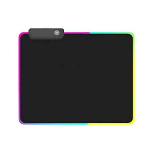 Printasaurus RGB Large Colorful LED Lighting Keyboard Mat Gaming Mouse Pad for Computer Home & Garden Office & Stationery