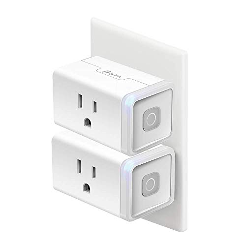 Kasa Smart Plug HS103P2, Smart Home Wi-Fi Outlet Works with Alexa, Echo, Google Home & IFTTT, No Hub Required, Remote Control,15 Amp,UL Certified, 2-Pack
