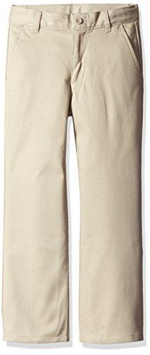 Dockers Boys' Big Uniform Twill Pants, Khaki, 28