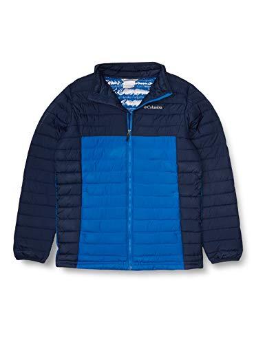 Columbia Youth Boys Powder Lite Jacket, Collegiate Navy/Bright Indigo, Large