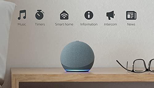 Echo Dot (4th Gen) | Smart speaker with Alexa | Twilight Blue